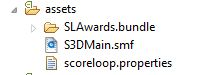 The assets folder, S3DMain.smf is just an .stk file renamed