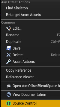 Picture of right-click source menu